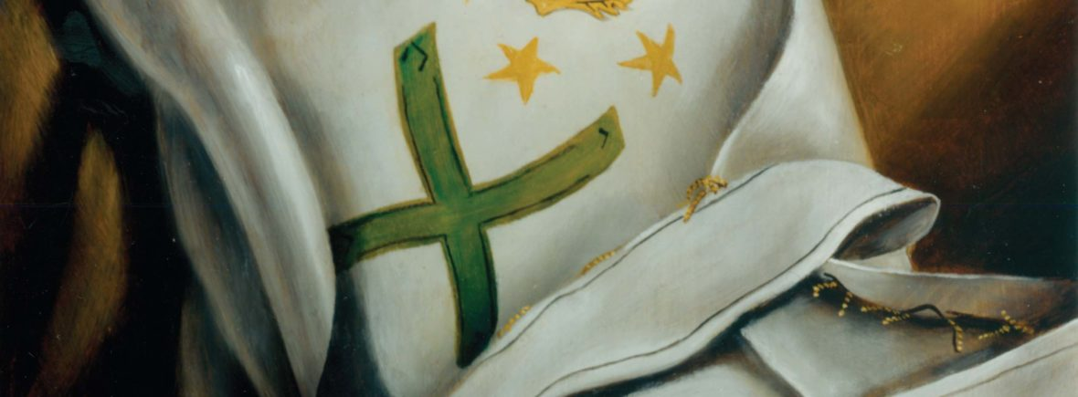 Original oil painting by Bro. Robert H. White, 32°, from the Hall of Scottish Rite Regalia, House of the Temple, Washington, DC. © House of the Temple Historic Preservation Foundation, Inc. All Rights Reserved. Used with Permission.