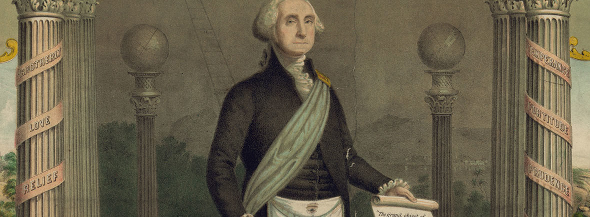 George Washington in full Masonic regalia